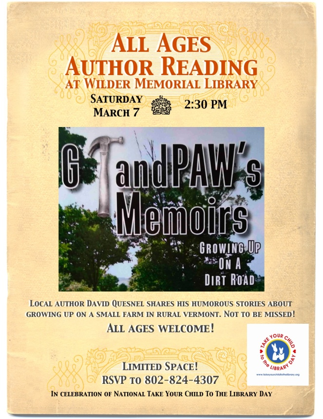2015 Take Your Child To The Library Day & Memoir Event