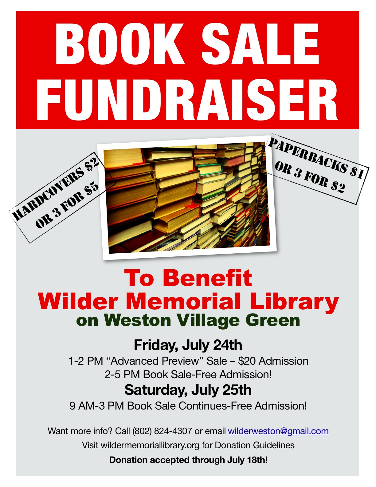 book sale and fundraiser wilder memorial library