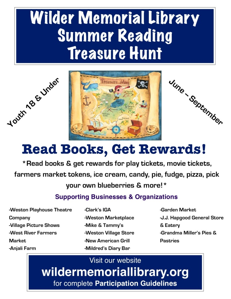 2015 Summer Reading Treasure Hunt