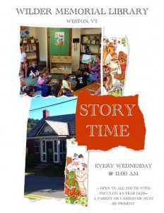 Weekly Story Time Flyer