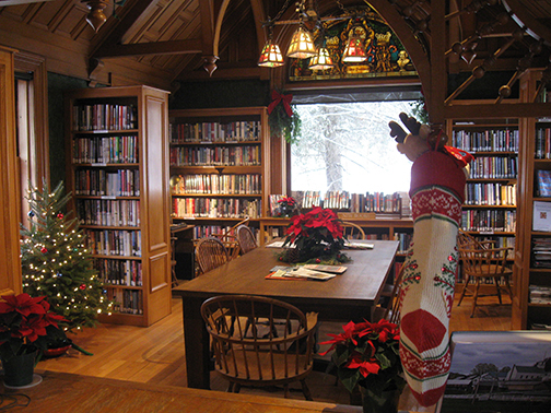 A holiday view from the librarians desk
